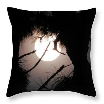 Florida November Full Moon Throw Pillow