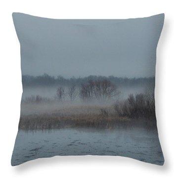 November Mist Throw Pillow