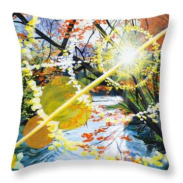 The Glorious River Throw Pillow