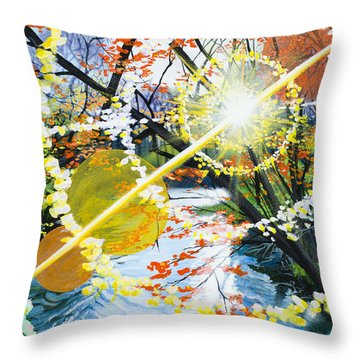 The Glorious River Throw Pillow