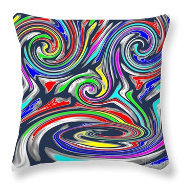 Novino  Clueless In Seattle  Funny Comedy Cartoon Background Designs  And Color Tones N Color Shades Throw Pillow