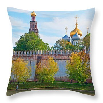 Novodevichy Convent And Cathedral Of Throw Pillow