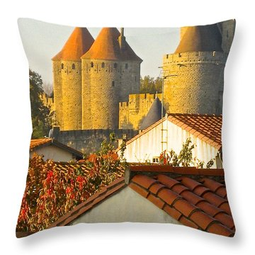 Now And Then Throw Pillow by Suzanne Oesterling