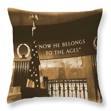Throw Pillow featuring the photograph Now He Belongs To The Ages by Luther Fine Art