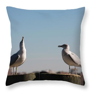 Now Listen To Me Throw Pillow