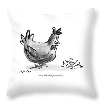 Now Look What You've Done! Throw Pillow