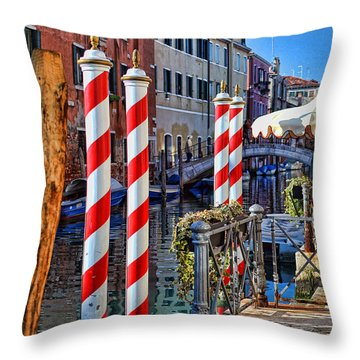 Now Thats A Barbers Pole Throw Pillow by Graham Hawcroft pixsellpix