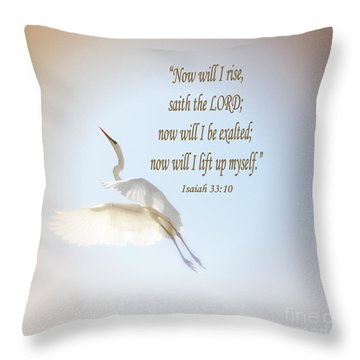 Throw Pillow featuring the photograph Now Will I Rise  by Ola Allen
