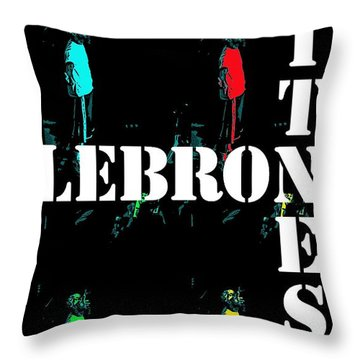 Now Witness Lebron James Throw Pillow by J Anthony