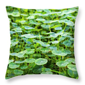 Nuanced Nasturtium Throw Pillow by Joe Schofield