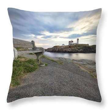 Nubble Bench Throw Pillow by Eric Gendron