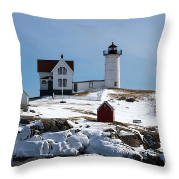 Nubble Light 2 Throw Pillow