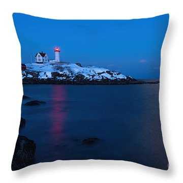 Nubble Light Reflections Throw Pillow