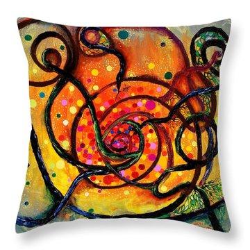 Nuclear Fusion Throw Pillow by Regina Valluzzi