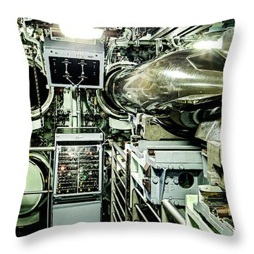 Nuclear Submarine Torpedo Room Throw Pillow
