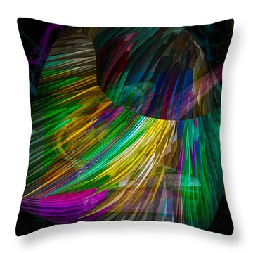 Nucleus Throw Pillow by Camille Lopez