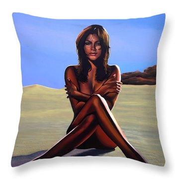Nude Beach Beauty Throw Pillow