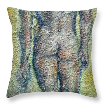 Nude Brunet Throw Pillow