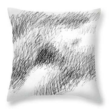 Nude Female Abstract Drawings 1 Throw Pillow