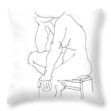 Nude Female Drawings 12 Throw Pillow