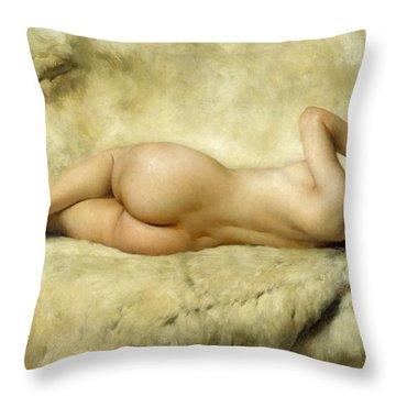 Nude Throw Pillow by Giacomo Grosso