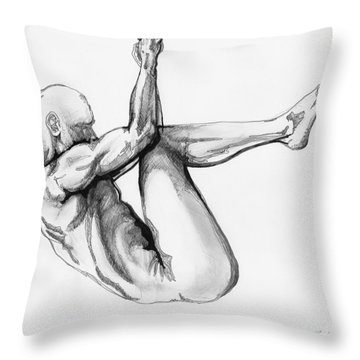 Nude Male 1 Throw Pillow
