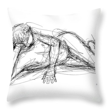 Nude Male Sketches 5 Throw Pillow