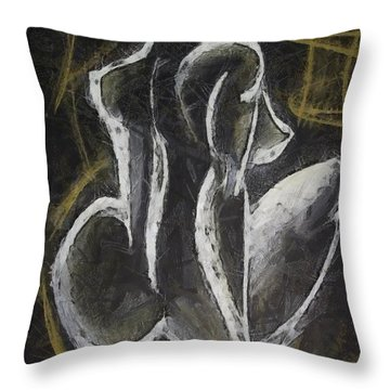 Throw Pillow featuring the drawing Nude  Vii by Dragica  Micki Fortuna