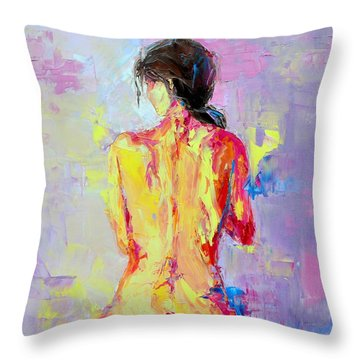 Nude Woman Figure No. 2 Throw Pillow