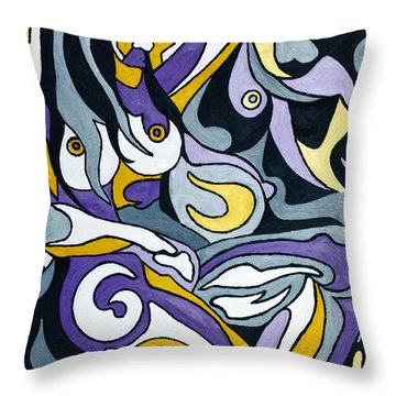 Nude7 Throw Pillow