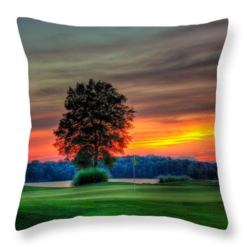 Number 4 The Landing Throw Pillow
