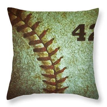 Number 42 Throw Pillow