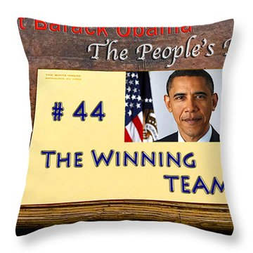 Number 44 - The Winning Team Throw Pillow by Terry Wallace