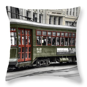 Throw Pillow featuring the photograph Number 965 Trolley by Tammy Wetzel