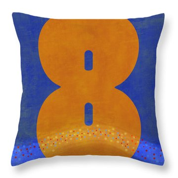 Number Eight Flotation Device Throw Pillow
