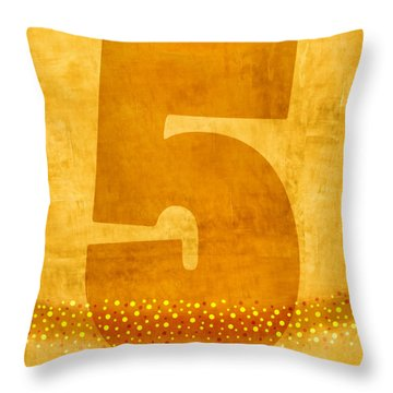 Number Five Flotation Device Throw Pillow