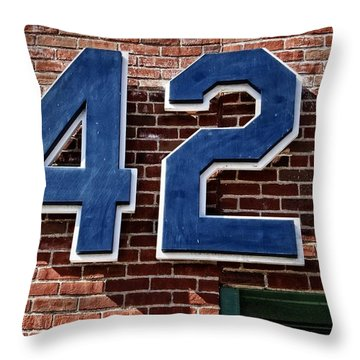 Number Forty Two Throw Pillow by Alice Gipson