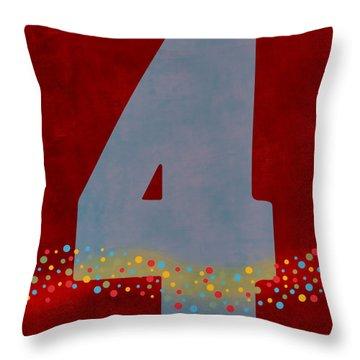 Number Four Flotation Device Throw Pillow