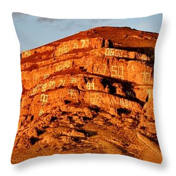 Throw Pillow featuring the photograph Number Hill by Benjamin Yeager