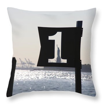 Number One Throw Pillow