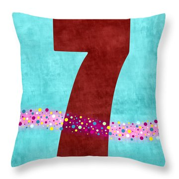 Number Seven Flotation Device Throw Pillow