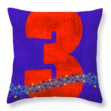 Number Three Flotation Device Throw Pillow