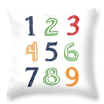Numbers 123 Throw Pillow