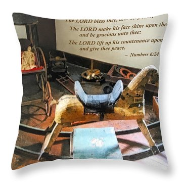 Numbers 6 24-26 The Lord Bless Thee And Keep Thee Throw Pillow by Susan Savad