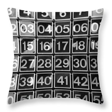 Numbers Throw Pillow by Steven Huszar