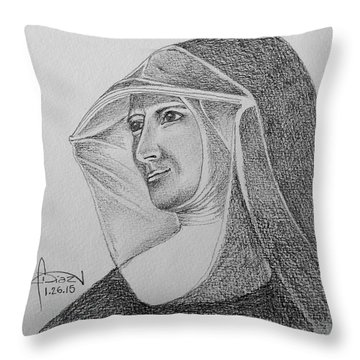 Nun II Throw Pillow
