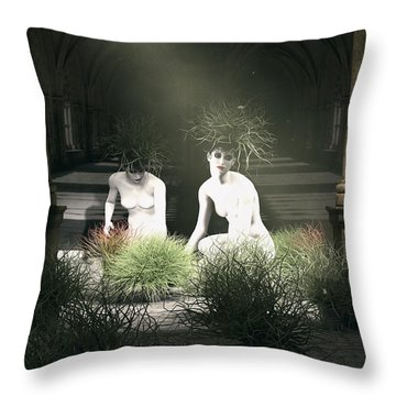 Nuns Of The Future Forest Throw Pillow