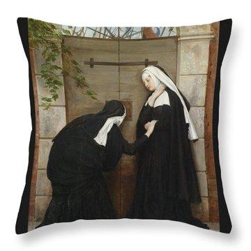 Nuns Under Threat Throw Pillow