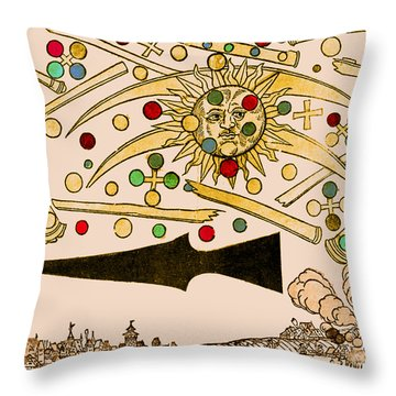 Nuremberg Ufo 1561 Throw Pillow by Science Source