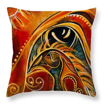 Nurturer Spirit Eye Throw Pillow
